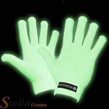 GLOW IN THE DARK GLOVES FUN SIGN LANGUAGE NOVELTY PARTY