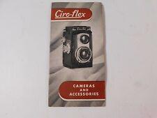 Vtg. Ciro-Flex Twin Reflex Camera Owners Instruction Manual