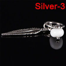 Feather Moonstone Cartilage Piercing Captive Rings Tragus Earring Body Jewelry L