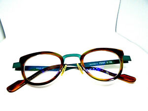 Anne Et Valentin FEIST U 136 Tortoise/Green Eyeglasses Frames Men/Women France