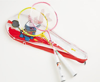 KAWASAKI 2 Player Kid Junior Ultralight Badminton Racquet Set With Bag Racket