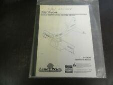Land Pride Rb0548 Rb0560 Rb1560 Rb1572 Rb1584 Rear Blades Operators Manual 09