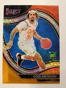 Cole Anthony 2020-21 Select Courtside Red And Orange Shimmer Rookie