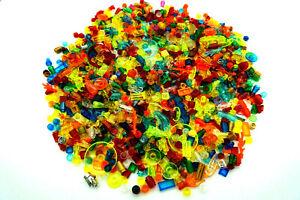 LEGO® 200 x Steine Neon – transparent rot blau gelb grün Flammen kleinteile