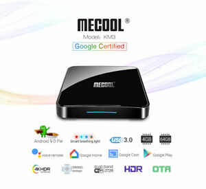 MECOOL KM3 TV Box Google Certificated Voice Control with 4GB RAM+64GB