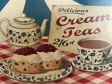 1 Vintage Advertising Tea Shop Window Sign Delicious Cream Teas Wall Hanging