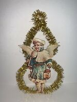Vintage Die Cut 2 Sided Christmas Ornaments REPRODUCTION Angel TINSEL