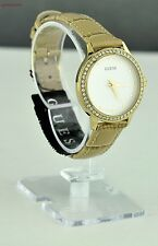FREE Ship USA Chic Ladies Watch GUESS Mocha Leather Women Lovely