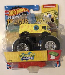 2021 HOT WHEELS Monster Trucks #57- Sponge Bob Square Pants Nickelodeon (Yellow)