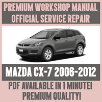 *WORKSHOP MANUAL SERVICE & REPAIR GUIDE for MAZDA CX7 2006-2012