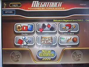 Merit Megatouch Force 2009.5 Hard drive latest version v27.03 mega touch