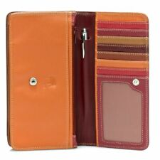 Leather Medium Matinee Purse/Wallet - MyWalit - Berry Blast