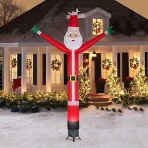 Gemmy 12' Animated Airblown Jolly Jiggler Santa with Internal Spotlight