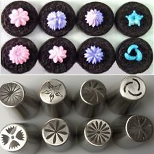 8PCS Stainless Steel Tulip Icing Piping Nozzles Pastry Decorating  Accessories