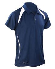 Spiro Men's Team Spirit Polo Shirt Lightweight Gym Runnnig Football Top (S177M)