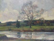 Ölgemälde Impressionist H.Franz -Melancholie in November-