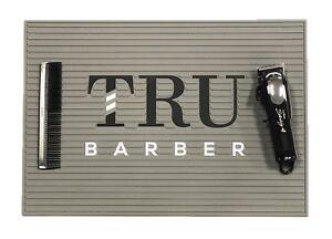 Barber Mats, Barber station mat,trubarber professional mat, anti slip GREY