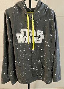 Disney Parks Star Wars Sweatshirt, hooded, 3XL, Pull-over, Gray,