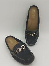 Women's UK 7 Van Dal Keren Blue Slip On Leather Loafer Shoes EU 40