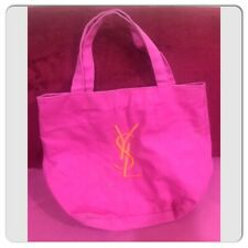 Yves Saint Laurent Parfums Pink Orang Logo Cotton Tote Bag