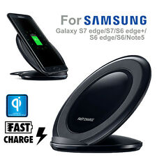 Fast Qi Wireless Charger Charging Pad Stand Dock for Samsung Galaxy S7/S6 Edge