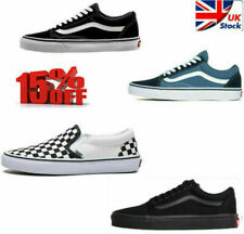VAN Old Skool Skate Shoes Black All Size Classic Canvas Running Sneakers Sell UK