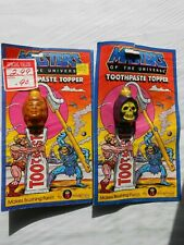 Masters of the Universe Toothpaste Toppers He-Man & Skeletor  Mattel 1984 NOS
