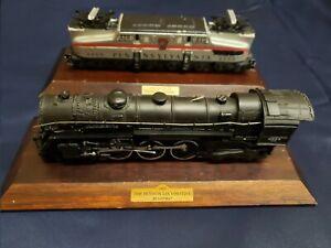 Lot of 2 Vintage Avon Lionel Train Models 1937 Locomotive 1948 Engine w/Stands