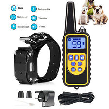 Rechargeable LCD Pet Dog Training Collar Electric Shock 800m Remote Control UK