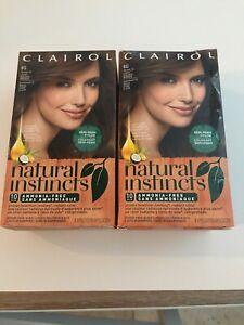 2~ Clairol Natural Instincts Hair Color Light Golden Brown 6g Old Formula (12)