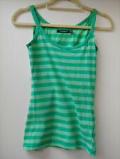 Green Stripey Vest Top From Atmosphere Size 8-10