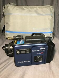 Panasonic Omnimovie VhsC PV-100D Vintage camcorder (untested) W/ Case