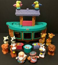 Fisher Price Little People Noah's Ark 2002 Discontinued 10 Animals + 2 People ++