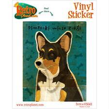 Pembroke Welsh Corgi Tri-Color Dog Vinyl Sticker Pet Breed Car Laptop Decal
