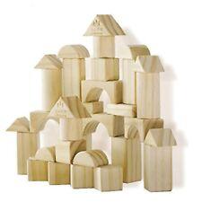 Montessori Natural Wood Building Set for Children, like KAPLA blocks - 32 pieces