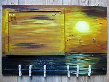 """Pinnwand Memoboard Schlüsselbrett """"Sehnsucht nach Meer"""" Sonnenuntergang Möwe"""