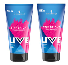 2x Schwarzkopf Live Stay Bright Colour Booster Shampoo SHOCKING PINK 150ml