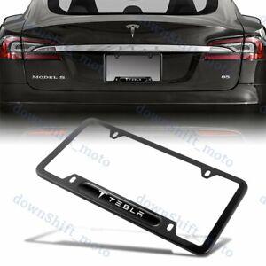 1PCS Black Stainless Steel License Plate Frame NEW for Tesla