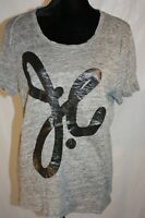 J. Crew Women's T-Shirt Short Sleeve 100% Linen RARE Vintage Juan Carlos Obando