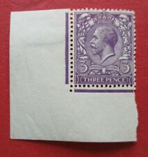SG423 Great Britain George V 1924-6 3d Lilac With Corner Border Stamp MNH