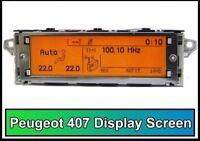 Peugeot 407 Citroen Farbdisplay Anzeige Multifunktion Screen Bordcomputer Neu
