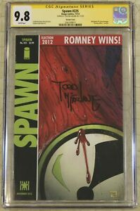 SPAWN #225 (1992) CGC SS 9.8 Signed Todd McFarlane Watchman #1 Cover Homage (Ima