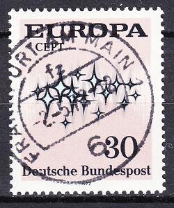 BRD 1972 Mi. Nr. 717 EUROPA ESST VOLLSTEMPEL Frankfurt am Main mit Gummi /8485