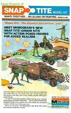 U.S. Army Jeep Half-Track: Original 1975 Model Print Ad