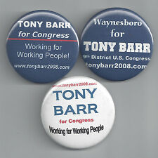 2008 TONY BARR FOR U.S. CONGRESS FROM PENNSYLVANIA BUTTON GROUP