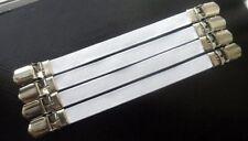 4 Metal Sábanas sujetadores - - Clip Pinzas ironing board Mantel Colchón
