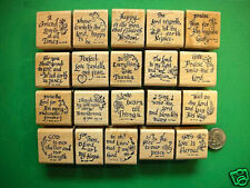 20 Scripture Stamps, Wood Mounted, Set #1