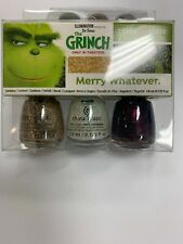 Dr Seuss The Grinch Merry Whatever China Glaze Nail Lacquer Polish Kit 3 Pack