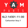 6L2-14301-11-00 Yamaha Carburetor assy 1 6L2143011100, New Genuine OEM Part
