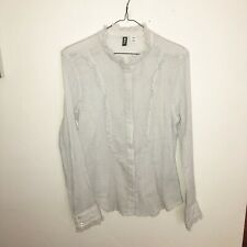 NWT urban outfitters BDG ruffle long sleeve button down size Medium